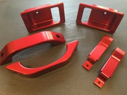 Defender Door Kit in ferenze red